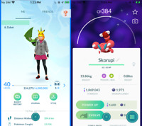Pokemon PTC Account Go Level 40 Starter Account with Shinies