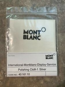 "New Montblanc Sterling Silver Polishing Cloth 4016110  9""x10"""