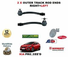 FOR KIA PRO CEED 1.4 1.6 PETROL 2012-> 2 X OUTER TRACK TIE ROD ENDS LEFT + RIGHT