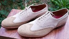 Grenson Northampton Mens Shoes Suede Brogue Dylan Fawn UK 10 EUR44 Fit F Regular