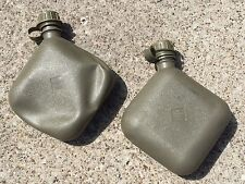 2 QT QUART CANTEEN BLADDER WATER US ARMY USMC MILITARY OD GREEN SET LOT OF 2 VGC