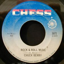CHUCK BERRY-Rock & Roll Music & Blue Feeling Early Rock 45-CHESS #1671