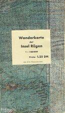 Krohss Wanderkarte der Insel Rügen 1950 Mecklenburg-Vorpommern