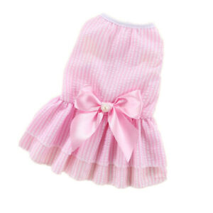 Dress X-SMALL Dog Pet Pink Bow Bling Cute Puppy Party Clothes Girl Dog Shirt S M