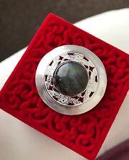 925 Sterling Silver Natural Real Moonstone Labradorite Handmade Pendant