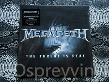 "Megadeth The Threat is Real 180g Vinyl Download Voucher 12"" Single Factory Seale"