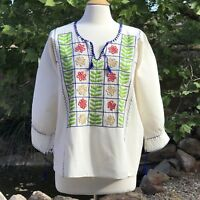 Size M-L Mexican blouse Hand embroidered from Chiapas