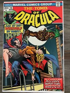 Tomb Of Dracula #18 Marvel Werewolf by Night Crossover Blade Cameo