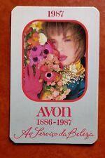 CALENDRIER DE POCHE.  AVON 1987