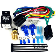 Radiator Fan Wiring Kit/Harness, Single or Dual Fan, Pre Set @180, Brand New