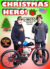 "New 66cc/80cc 2-Stroke Motorized Bike Kit And 26"" Cruiser Bike Complete Diy"