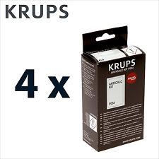 4 x Genuine Krups Descaling Powder Descaler Anticalc kit Coffee Espresso - F054