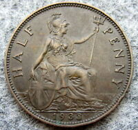 GREAT BRITAIN GEORGE V 1933 HALF 1/2 PENNY HALFPENNY