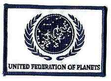 "Star Trek White UFP Flag  4"" Patch- Lincoln Ent- FREE S&H (STPAL-UFPW)"