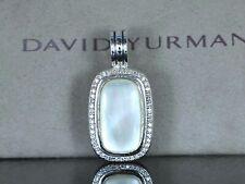 $2,350 David Yurman Albion Silver Diamond Mother Of Pearl Necklace Pendant