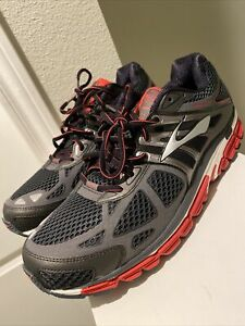 NEW! Brooks Beast 14 Black Red Running Shoes Men Size 12 Athletic Run Road Trail