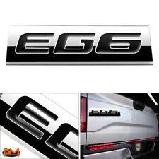 """""""EG6""""Polished Metal 3D Decal Black Emblem Exterior Sticker For 92-95 Honda Civic"""