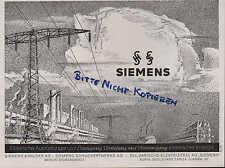 BERLIN, Werbung 1940, Siemens & Halske AG Schuckertwerke AG Elektrische Energie
