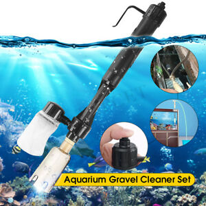 Fish Tank Aquarium Vacuum Gravel Cleaner Hoover Siphon Pump Water Syphon Clean