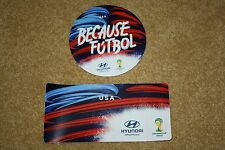 HYUNDAI FIFA WORLD CUP 2014 SET OF 2 TEAM USA CLINGS / DECALS (NEW)
