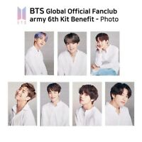 BTS Global Official Fan Club ARMY 6th Kit Benefit Photo K-POP KPOP