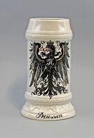 9959485 Porzellan Bierkrug Königlich Preußischer Adler Preussen Ens 1l H21cm