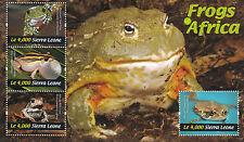 Sierra Leonean Reptile & Amphibian Postal Stamps