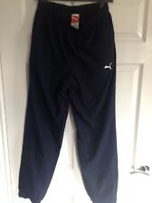 Mens Spirit Puma Football Running Leisure Fitness Tracksuit Trouser Pants Blue M