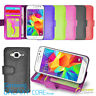 Photo ID Wallet Flip Leather Case Cover for Samsung Galaxy Core Prime LTE G360