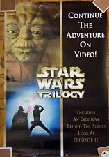 Star Wars Trilogy Original Blockbuster Poster / Video Promotion