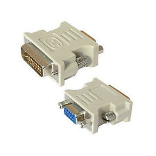 DVI-D Dual Link (24+1pin) Male to VGA SVGA HD15 Female Converter Adapter