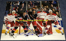 BRANDON PRUST at NET vs CAPS Auto SIGNED 11x14 Photo NEW YORK RANGERS/MONTREAL