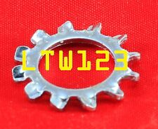 """(50) 1/4"""" External Tooth Star Steel Lock Washer Zinc Plated"""