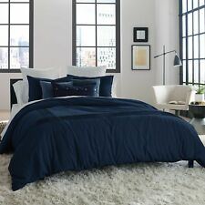 "KENNETH COLE Full/Queen Duvet Cover STRUCTURE,Reversible, INDIGO, 92"" x 96"", NEW"