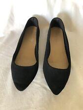 Bamboo Women's Black Fabric Ballerinas  Flat Shoes Size 10