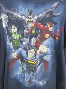 Justice League DC Comics Mens T Shirt Size 2XL Crew Neck Tee Superman Batman