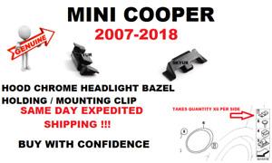 MINI COOPER 07-18 Hood Chrome Headlight Bezel Holding Mounting Clip GENUINE