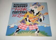 BEN & JERRY'S NEWPORT FOLK FESTIVAL '88 LIVE - ALCAZAR RECORDS LP - NEW! SEALED!