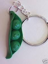 3 Peas In a Pod Key Chain~For Triplet or Person in a Family of 3~