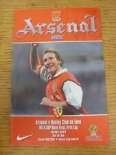 06/04/2000 UEFA Cup Semi-Final: Arsenal v Lens  . Item in very good condition, u