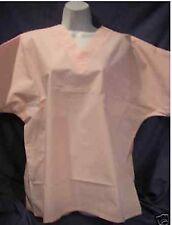 """Scrubs Ladies Pink Basic """"V"""" Neck  #100 By Sarawear M"""
