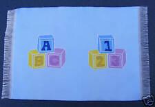 1:12 Scale Blue Woven Nursery Accessory Alphabet Block Tumdee Dolls House Carpet