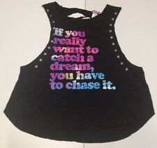 RUE21 Women IF YOU REALLY WANT TO CATCH A DREAM YOU HAVE TO CHASE IT  Small A36