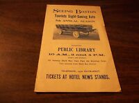 EARLY 1900's SIGHT SEEING BOSTON BROCHURE #1