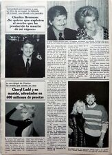 CHARLES BRONSON / CHERYL LADD: 1 page 1980  Spanish CLIPPING / COUPURE DE PRESSE