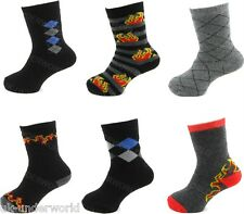 3 Pairs Childrens Boys Thermal Thick Boot Socks Teens Kids Winter Warm 9 - 12