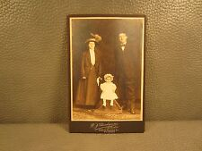 Victorian Antique Cabinet Card Photo of Couple with Baby Girl