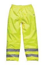 Dickies Hombre Alta Visibilidad Seguridad Pantalones Amarillo Varias Tallas