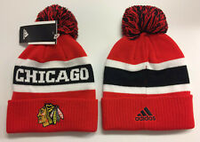 2019 Chicago Blackhawks Adidas NHL Knit Hat Cuffed Pom Beanie Stocking Cap
