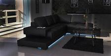 Ecksofa Textil Stoff Leder Polster Sofas Sofa Couch Garnitur Wohnlandscahft 3900